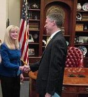 Ruth Ann Holloway_with Govenor Huntsman Utah Capitol